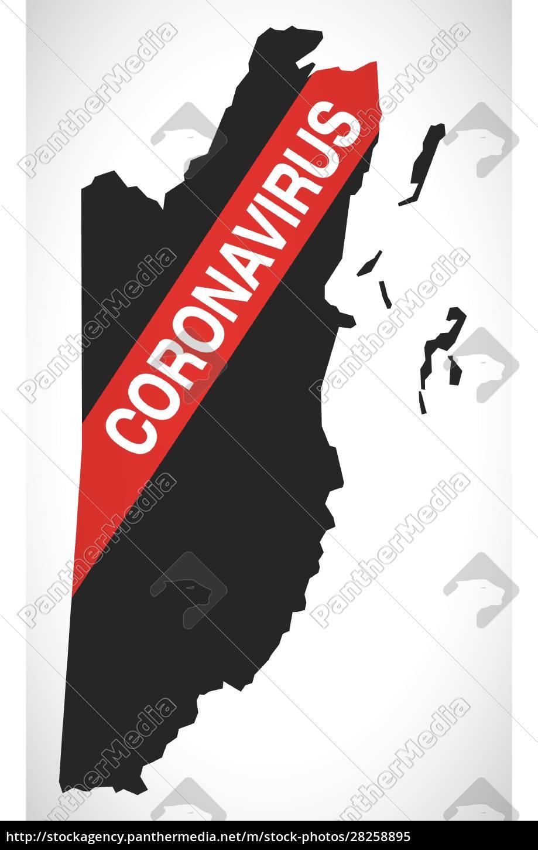 belize, map, with, coronavirus, warning, illustration - 28258895