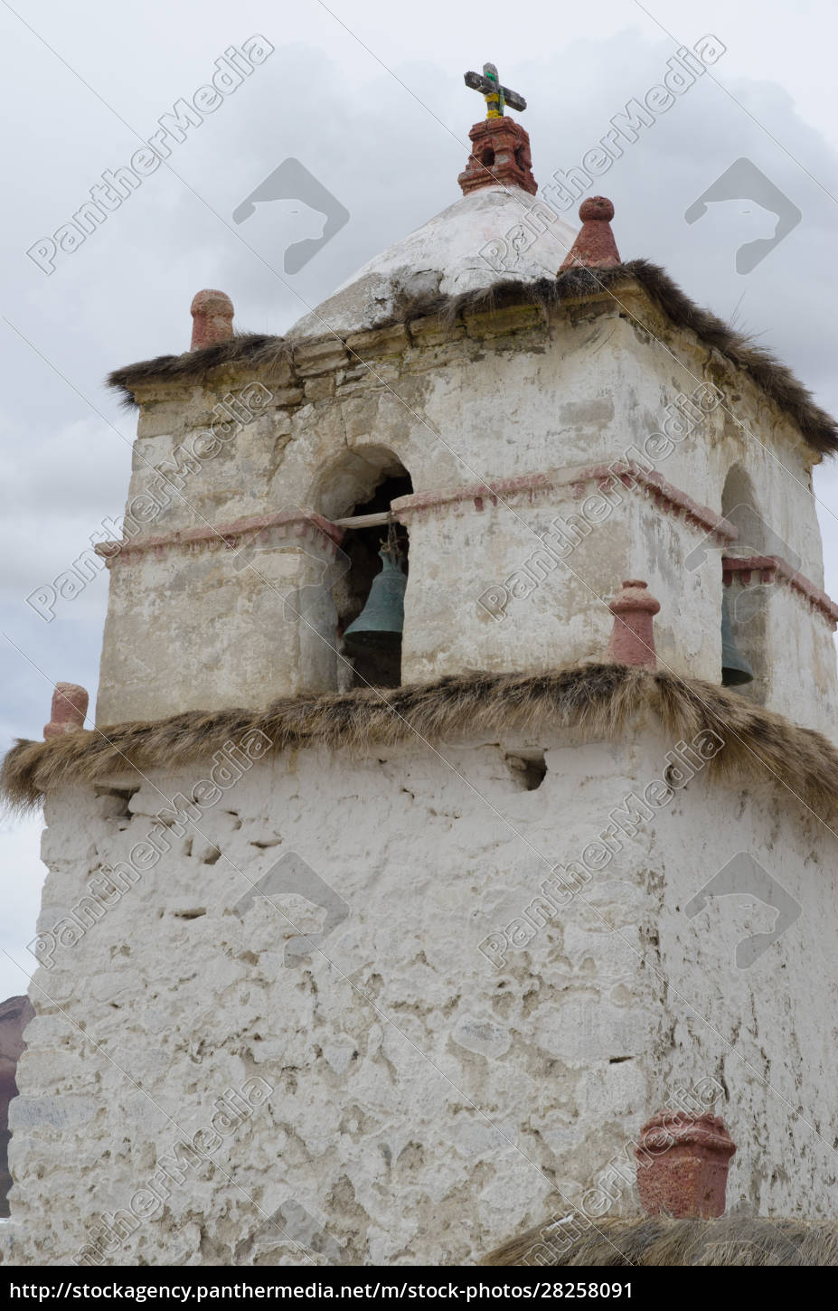 bell, tower, of, the, parinacota, church. - 28258091