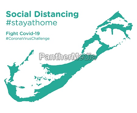 bermuda, map, with, social, distancing, #stayathome - 28258766
