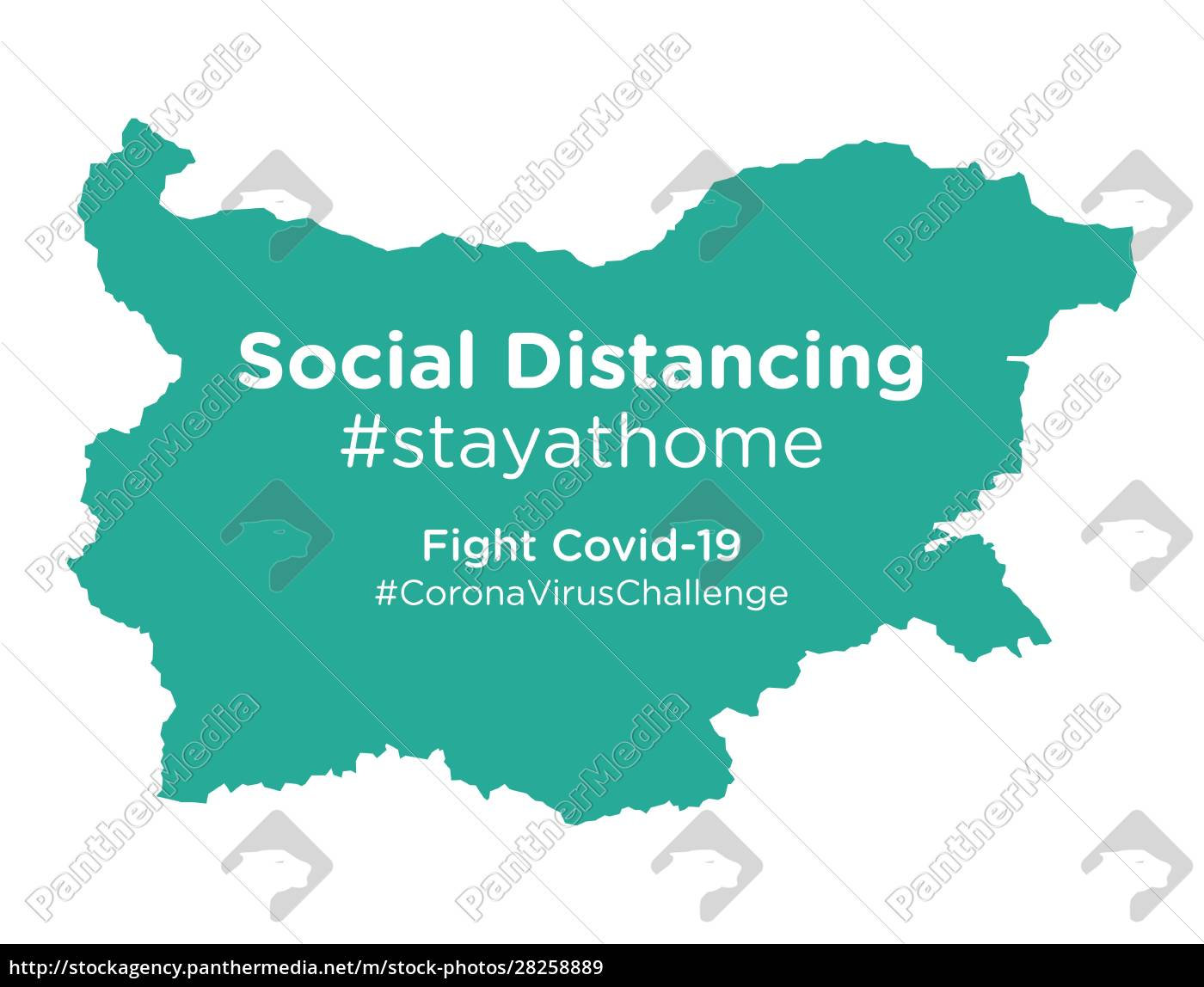bulgaria, map, with, social, distancing, #stayathome - 28258889
