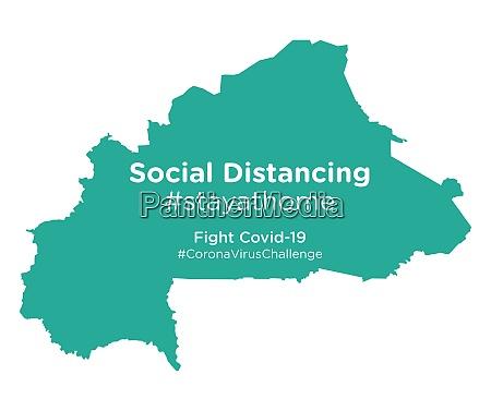 burkina, faso, map, with, social, distancing - 28258890