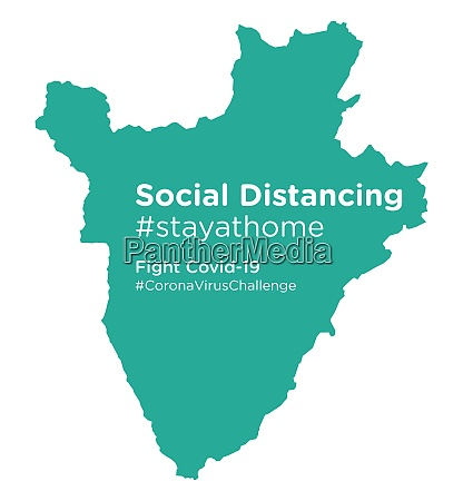 burundi, map, with, social, distancing, #stayathome - 28258899
