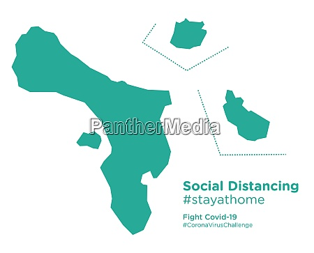 caribbean, netherlands, map, with, social, distancing - 28258797