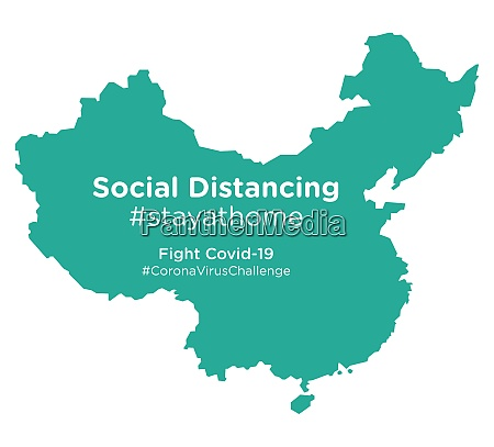 china, map, with, social, distancing, #stayathome - 28258802