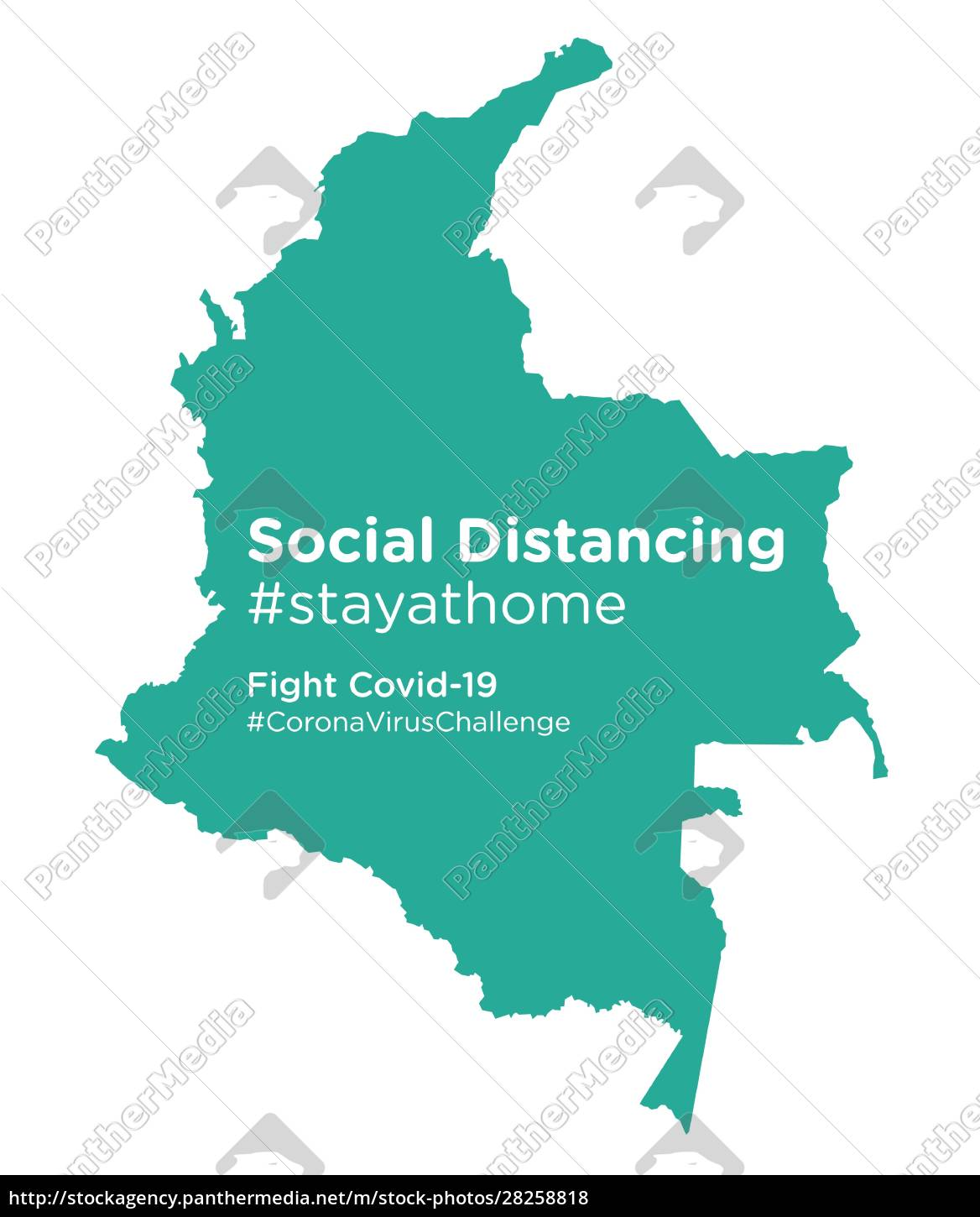 colombia, map, with, social, distancing, #stayathome - 28258818
