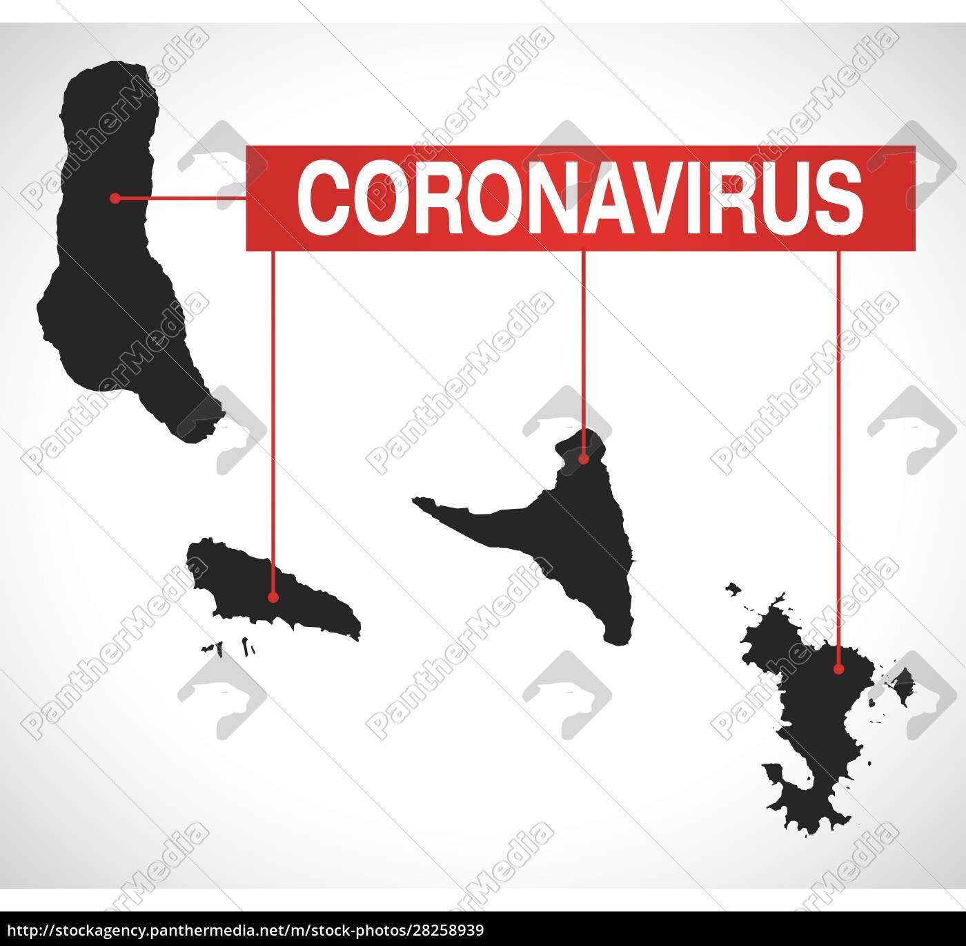 comoros, map, with, coronavirus, warning, illustration - 28258939