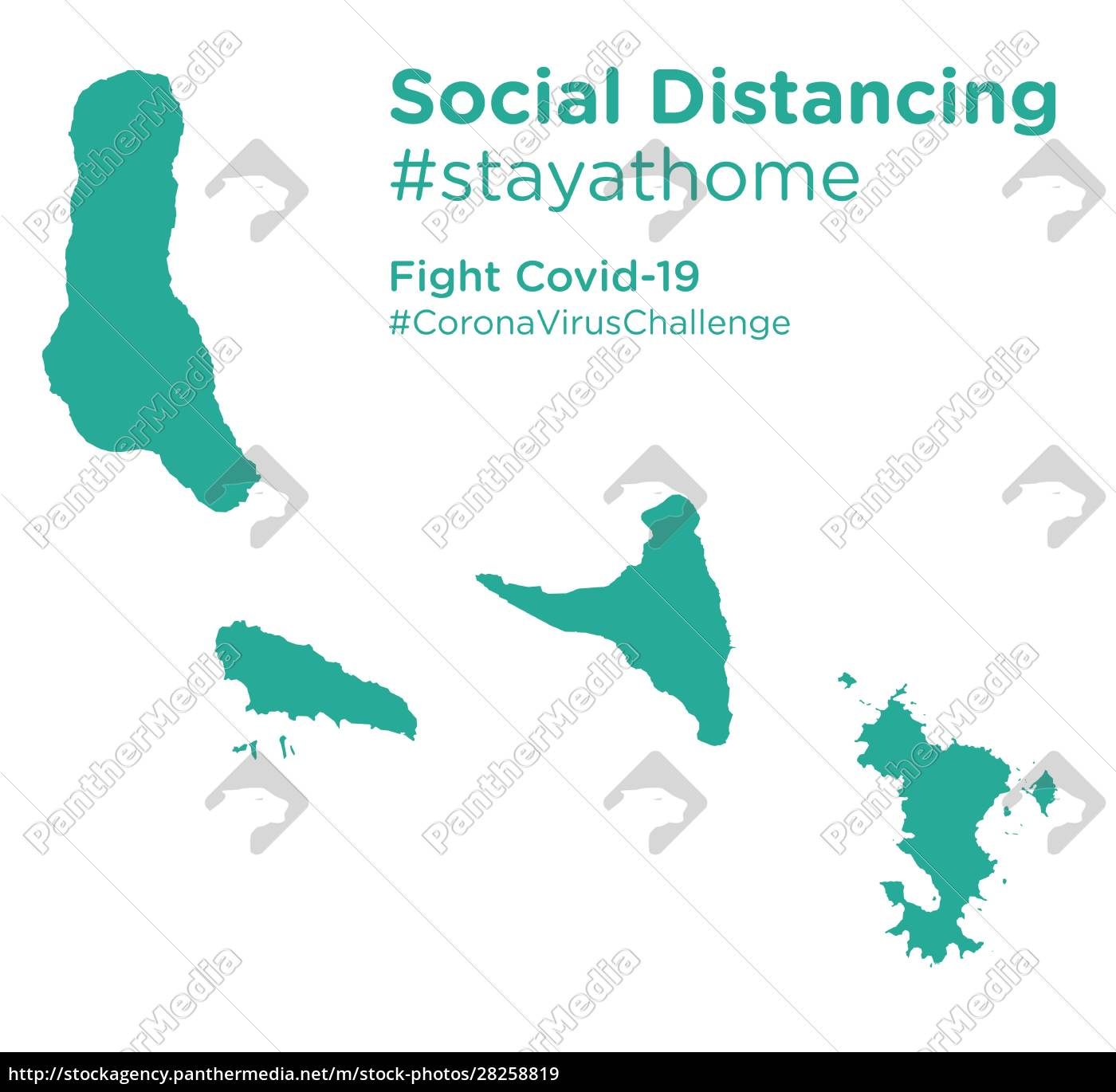 comoros, map, with, social, distancing, #stayathome - 28258819