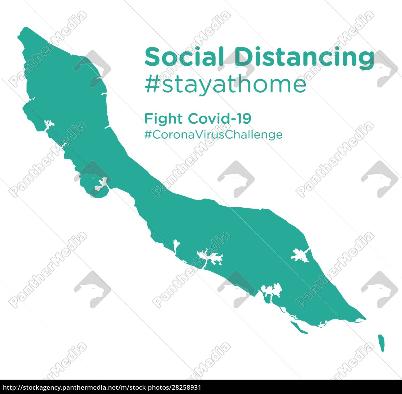 curacao, map, with, social, distancing, #stayathome - 28258931