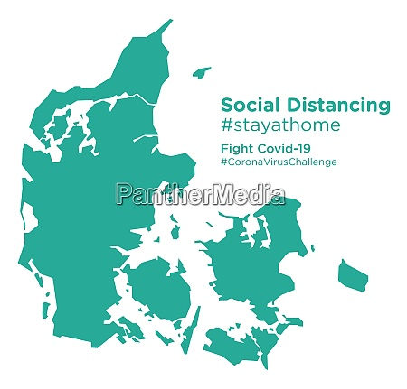 denmark, map, with, social, distancing, #stayathome - 28258822