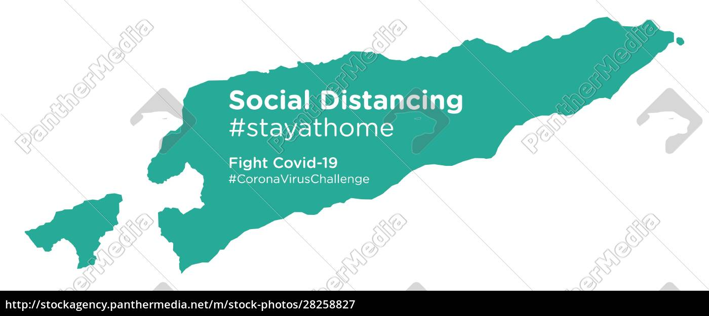 east, timor, map, with, social, distancing - 28258827