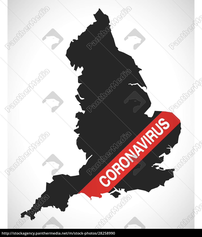 england, map, with, coronavirus, warning, illustration - 28258990