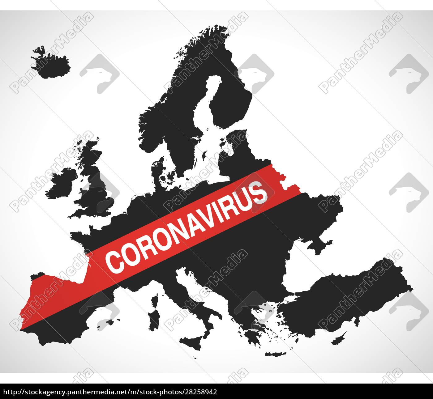 europe, map, with, coronavirus, warning, illustration - 28258942
