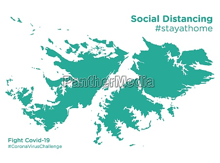 falkland, islands, map, with, social, distancing - 28258949