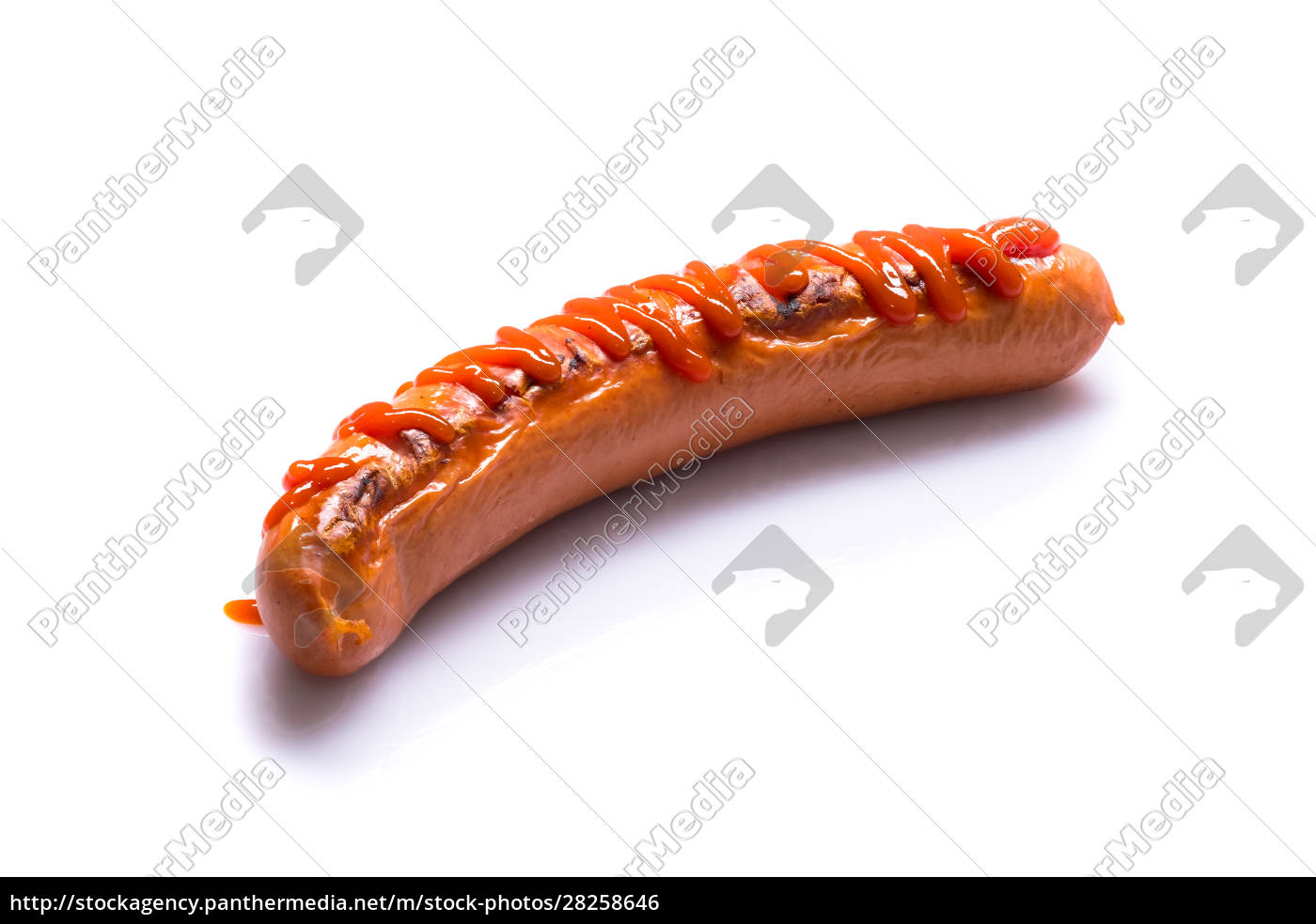 fried, sausage, with, ketchup - 28258646