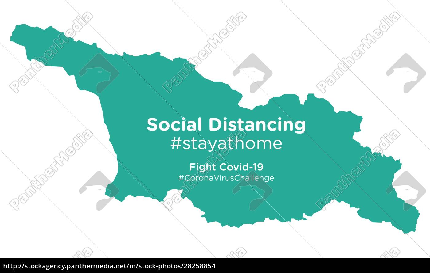georgia, map, with, social, distancing, #stayathome - 28258854