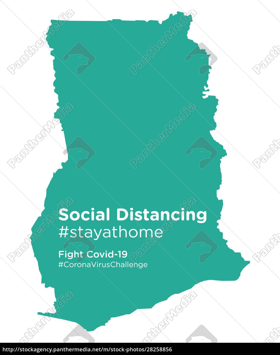 ghana, map, with, social, distancing, #stayathome - 28258856