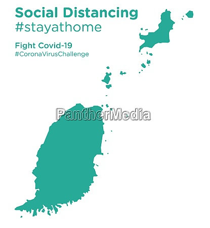 grenada, map, with, social, distancing, stayathome - 28258953