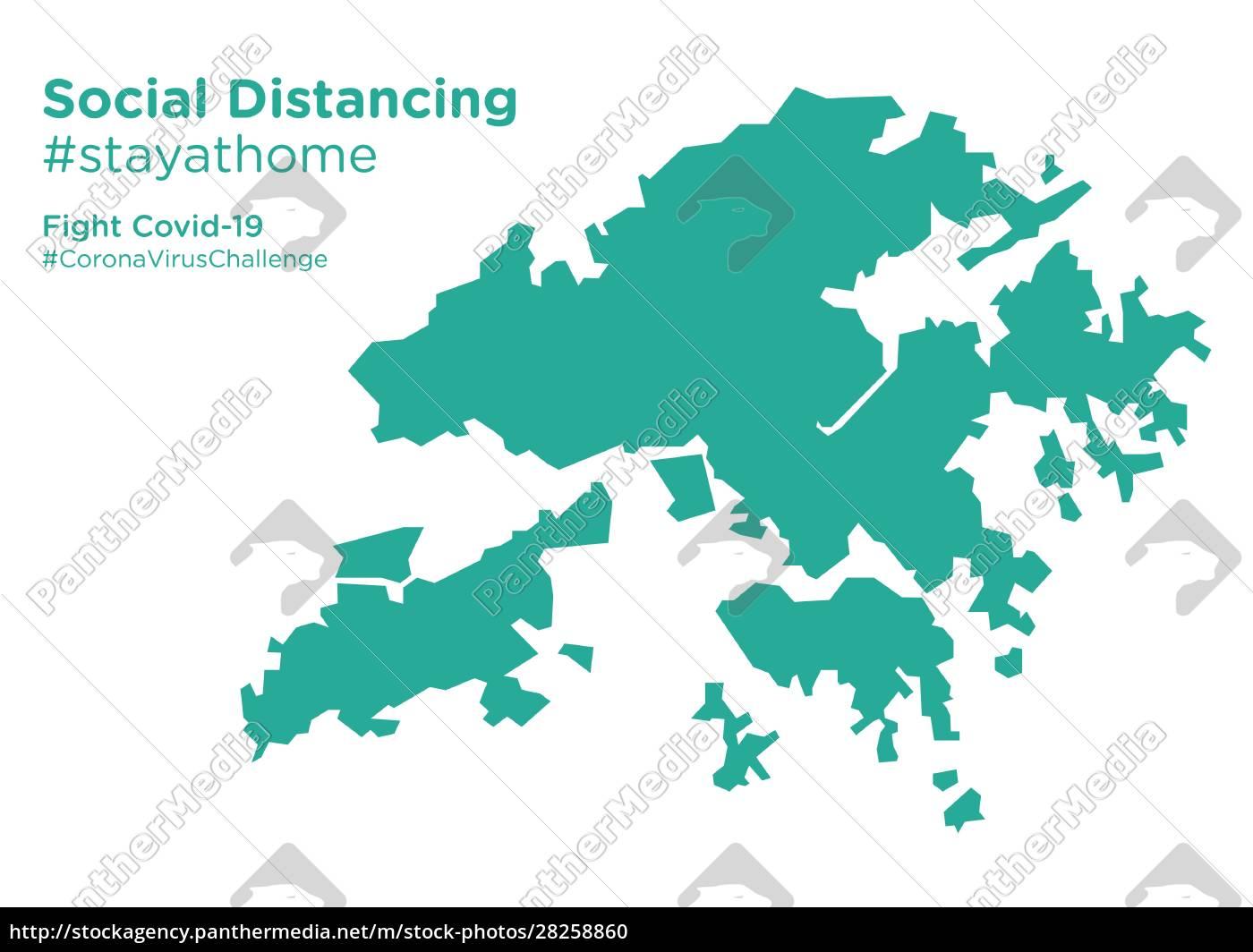 hongkong, map, with, social, distancing, stayathome - 28258860