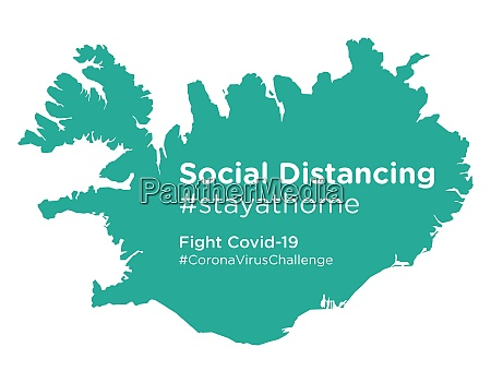 iceland, map, with, social, distancing, stayathome - 28258862