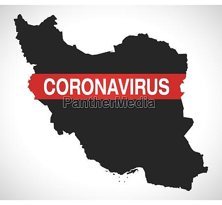 iran, map, with, coronavirus, warning, illustration - 28258945