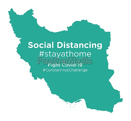 iran, map, with, social, distancing, #stayathome - 28258872