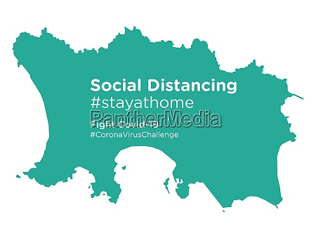 jersey, map, with, social, distancing, stayathome - 28258960
