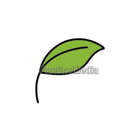 leaf., filled, color, icon., nature, vector - 28258473