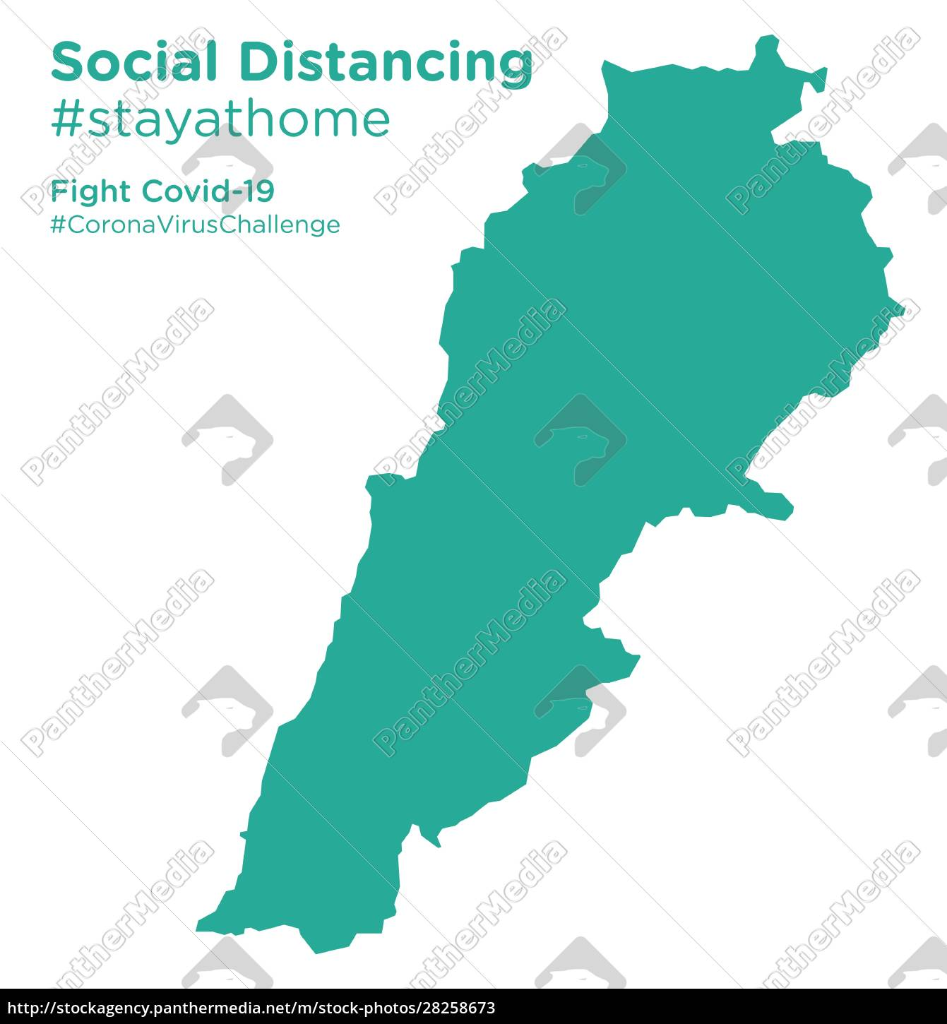 lebanon, map, with, social, distancing, stayathome - 28258673