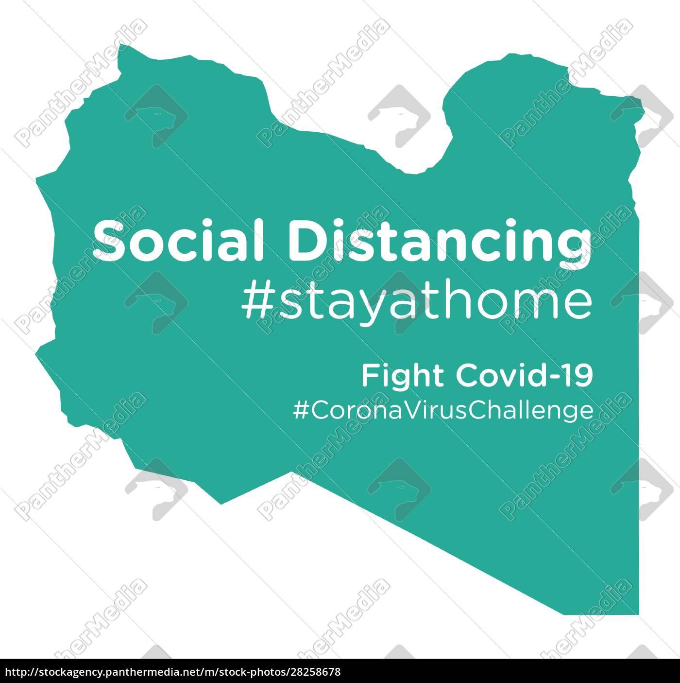 libya, map, with, social, distancing, stayathome - 28258678