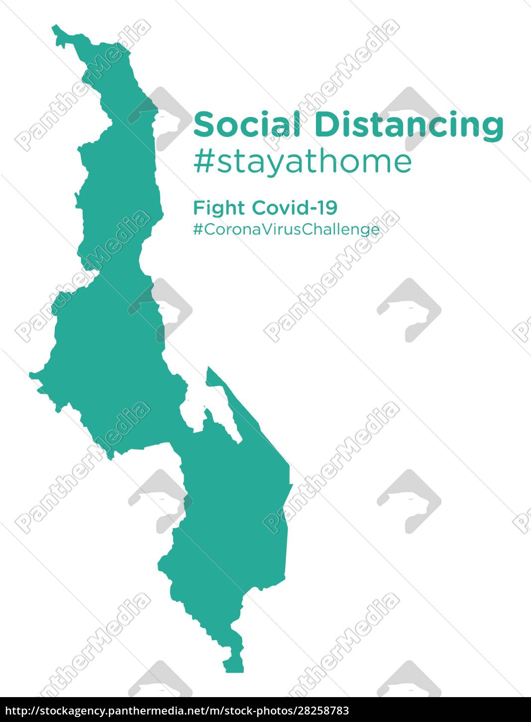 malawi, map, with, social, distancing, stayathome - 28258783