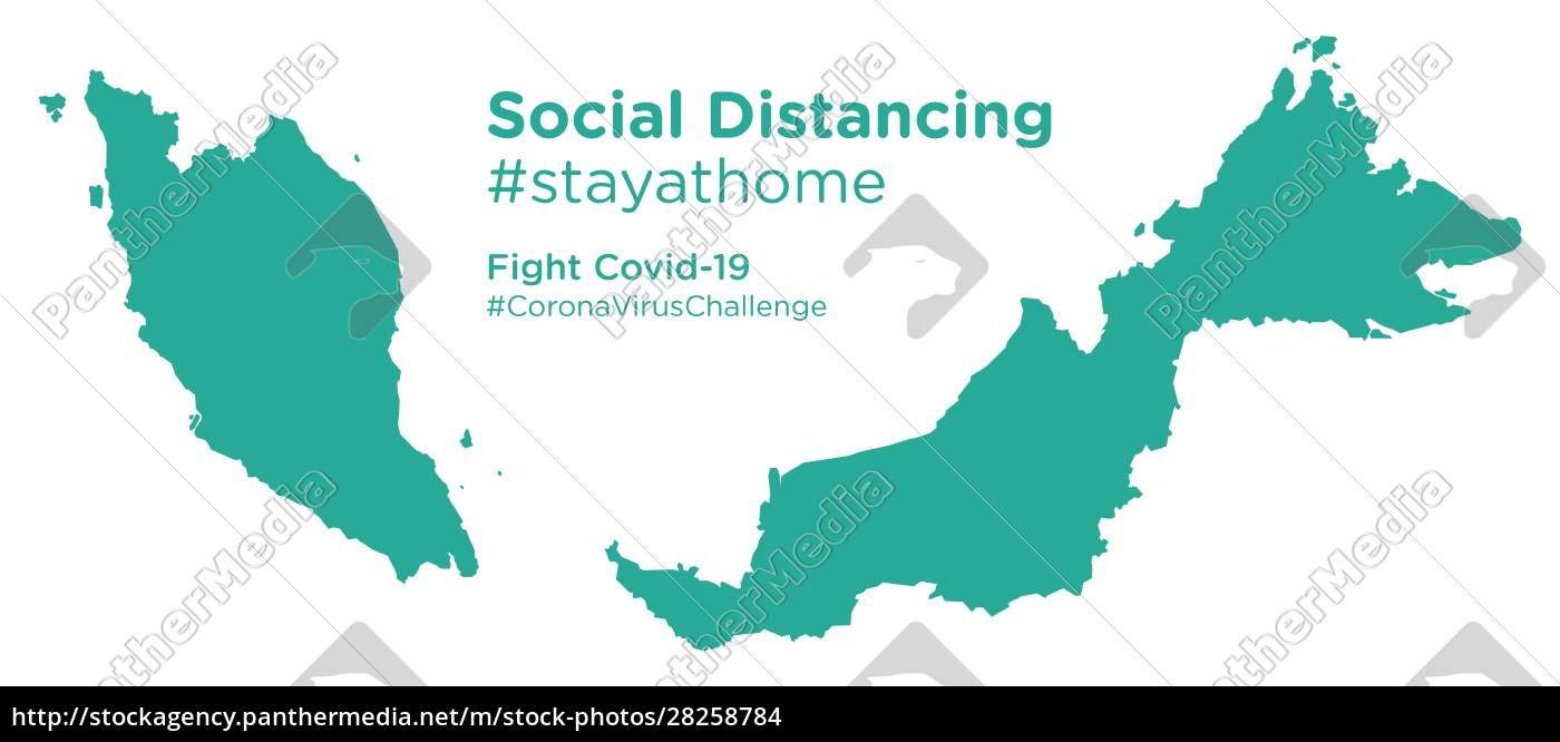 malaysia, map, with, social, distancing, stayathome - 28258784