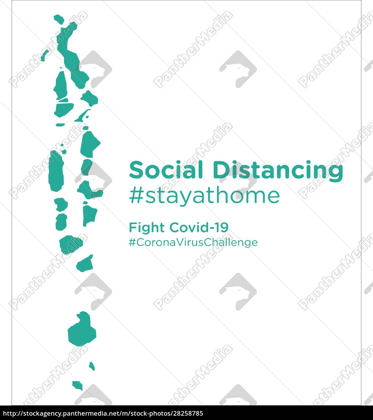 maldives, map, with, social, distancing, stayathome - 28258785