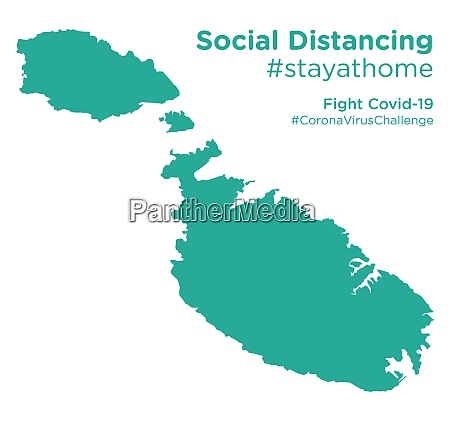 malta, map, with, social, distancing, stayathome - 28258787