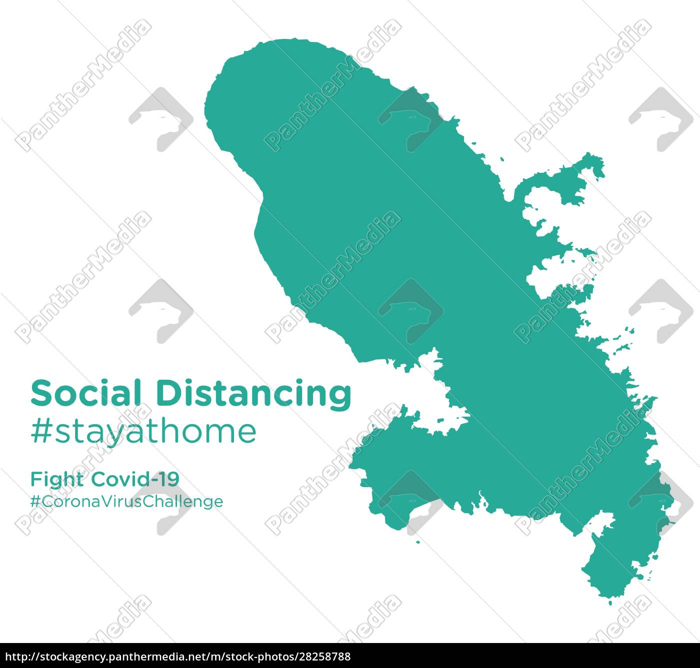 martinique, map, with, social, distancing, stayathome - 28258788