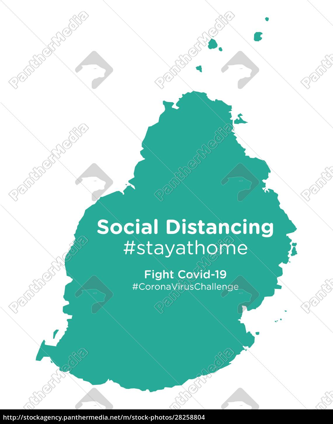 mauritius, map, with, social, distancing, stayathome - 28258804