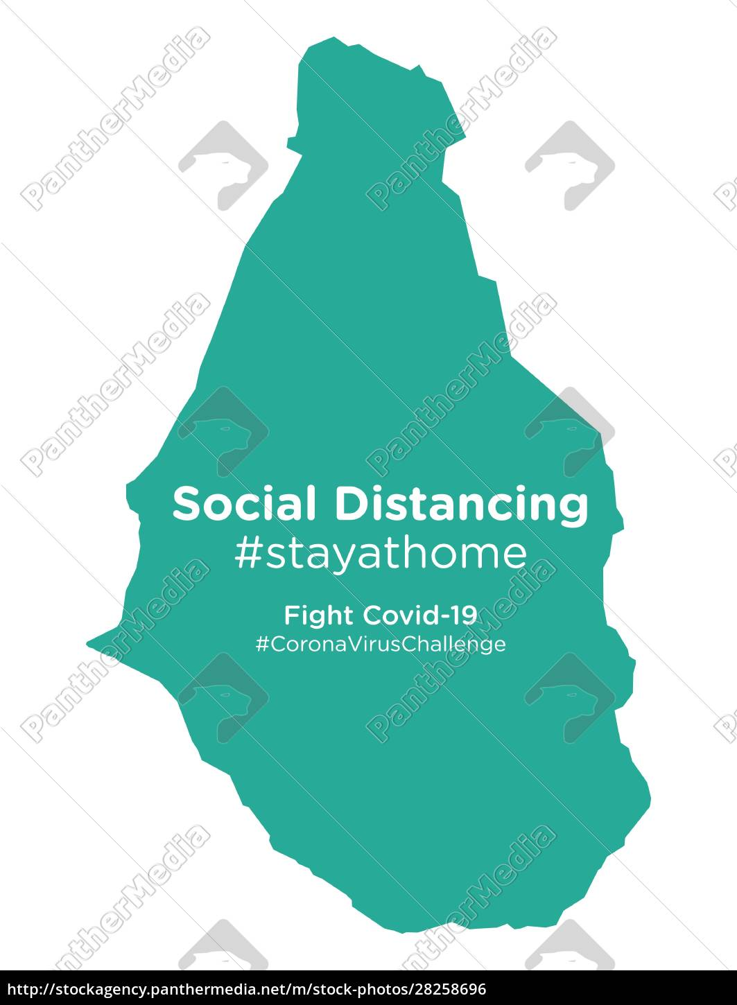 montserrat, map, with, social, distancing, stayathome - 28258696