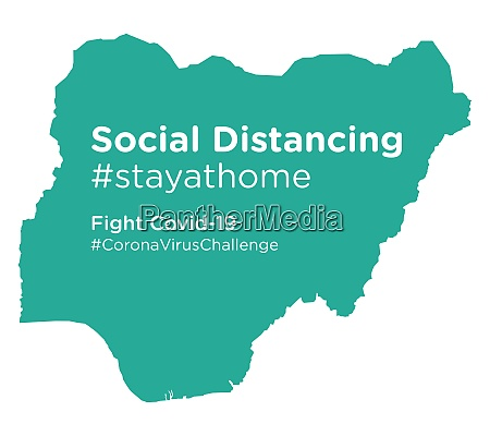 nigeria, map, with, social, distancing, stayathome - 28258812