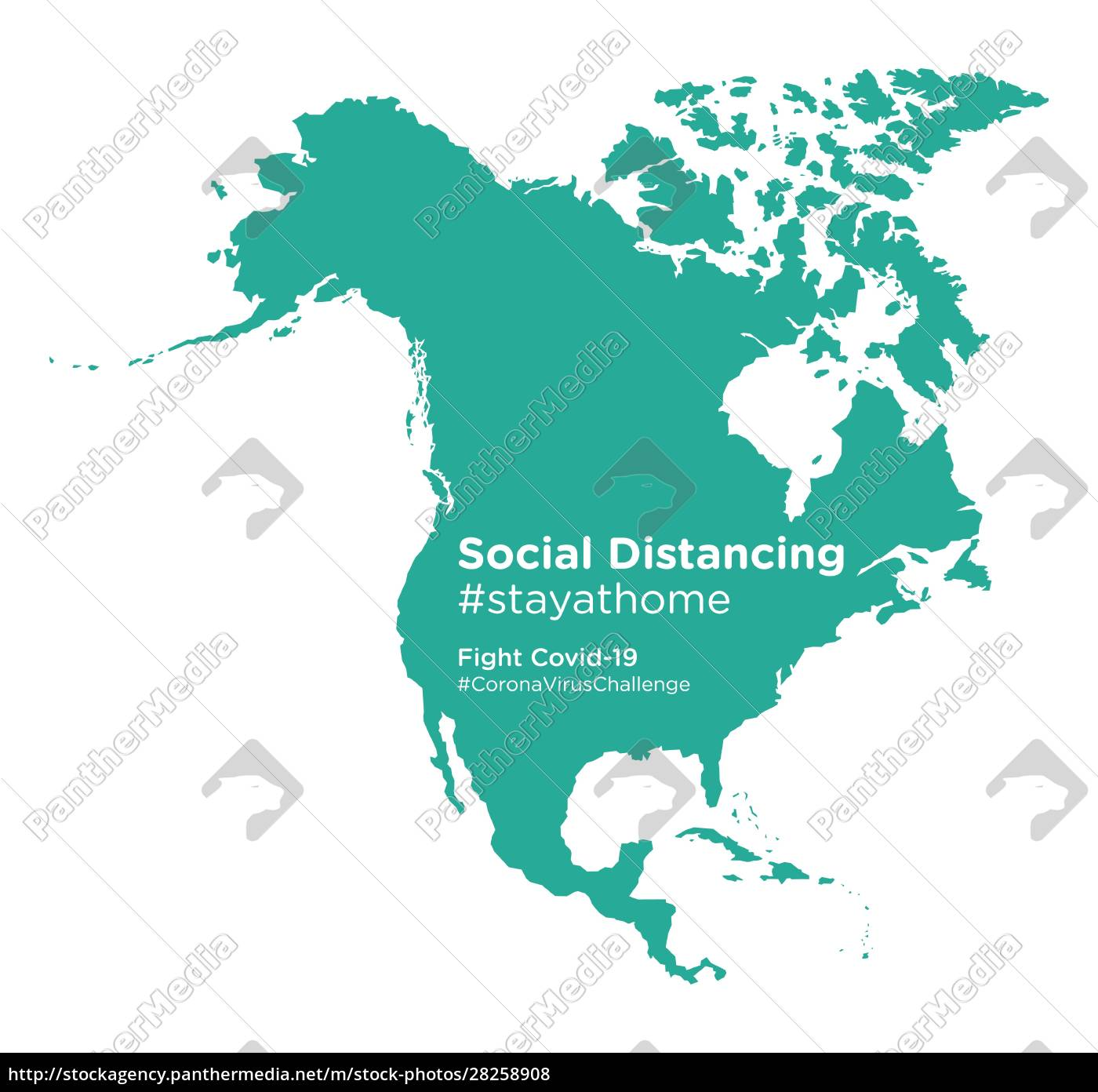north, american, continent, map, with, social - 28258908