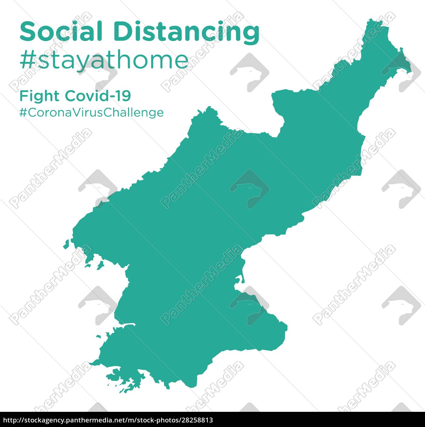 north, korea, map, with, social, distancing - 28258813