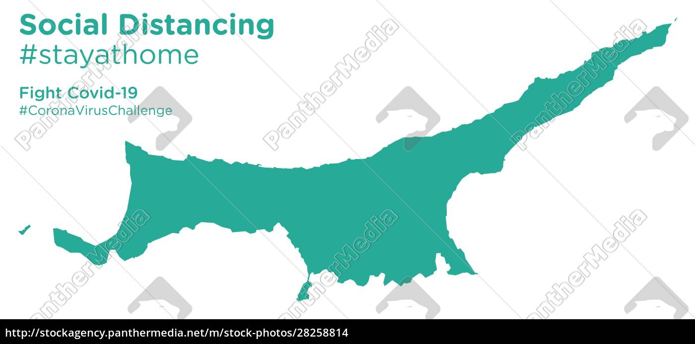 northern, cyprus, map, with, social, distancing - 28258814