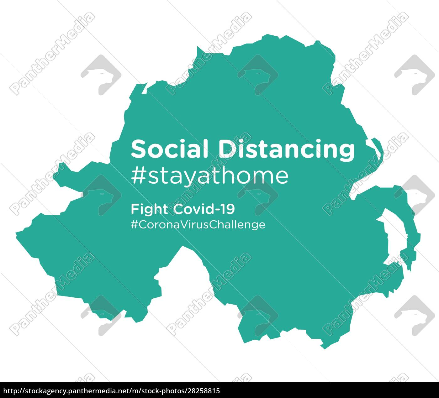 northern, ireland, map, with, social, distancing - 28258815