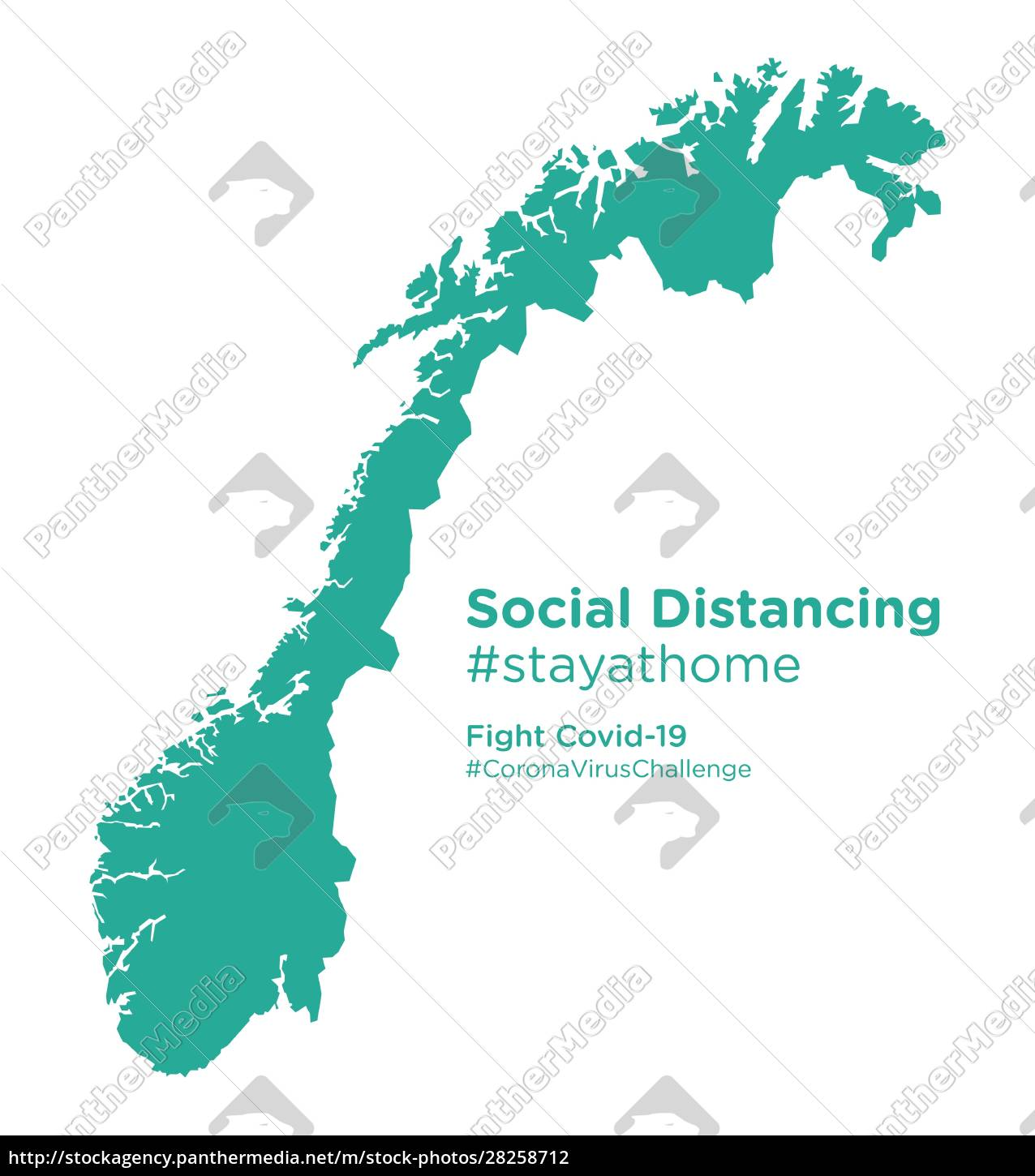 norway, map, with, social, distancing, #stayathome - 28258712