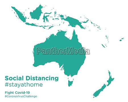 oceania, map, with, social, distancing, stayathome - 28258713