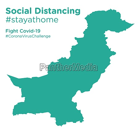 pakistan, map, with, social, distancing, stayathome - 28258715