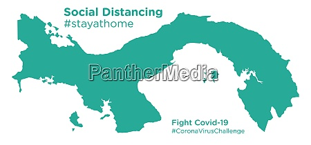 panama, map, with, social, distancing, stayathome - 28258718