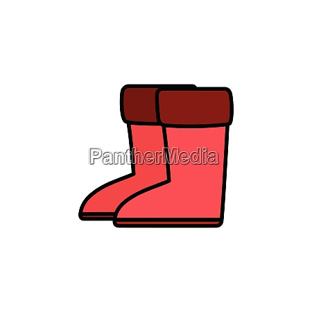 rain, boots., filled, color, icon., footwear - 28258321