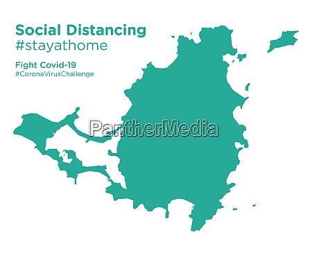 saint, martin, map, with, social, distancing - 28258736