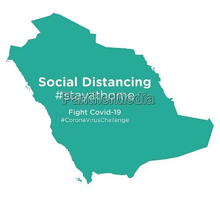saudi, arabia, map, with, social, distancing - 28258740