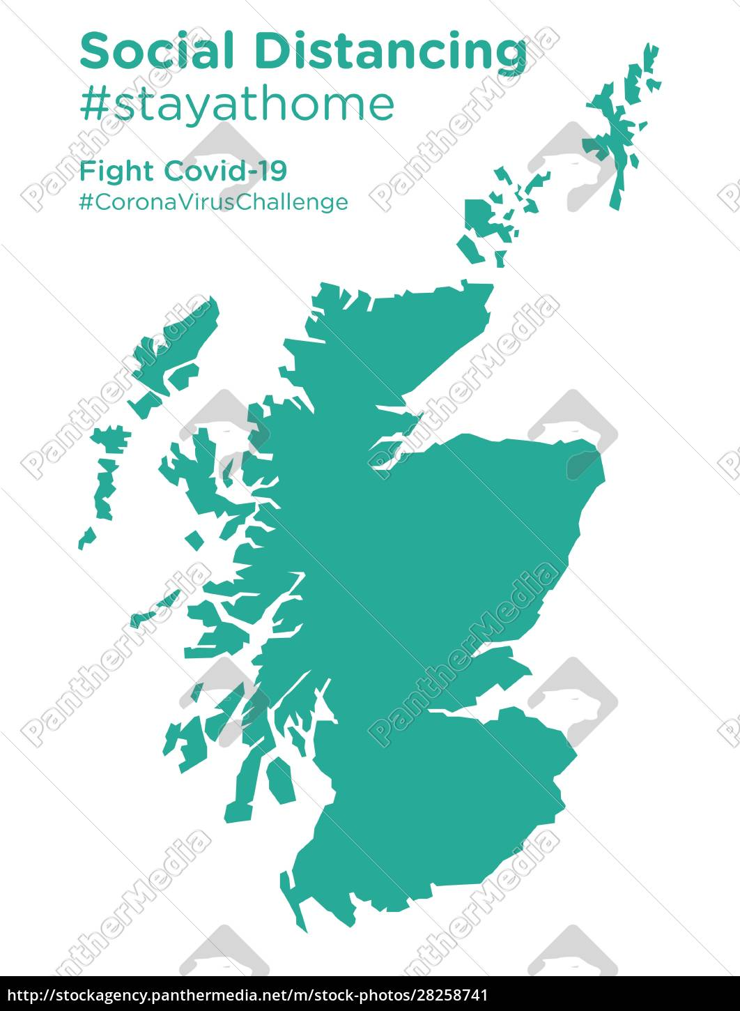 scotland, map, with, social, distancing, stayathome - 28258741