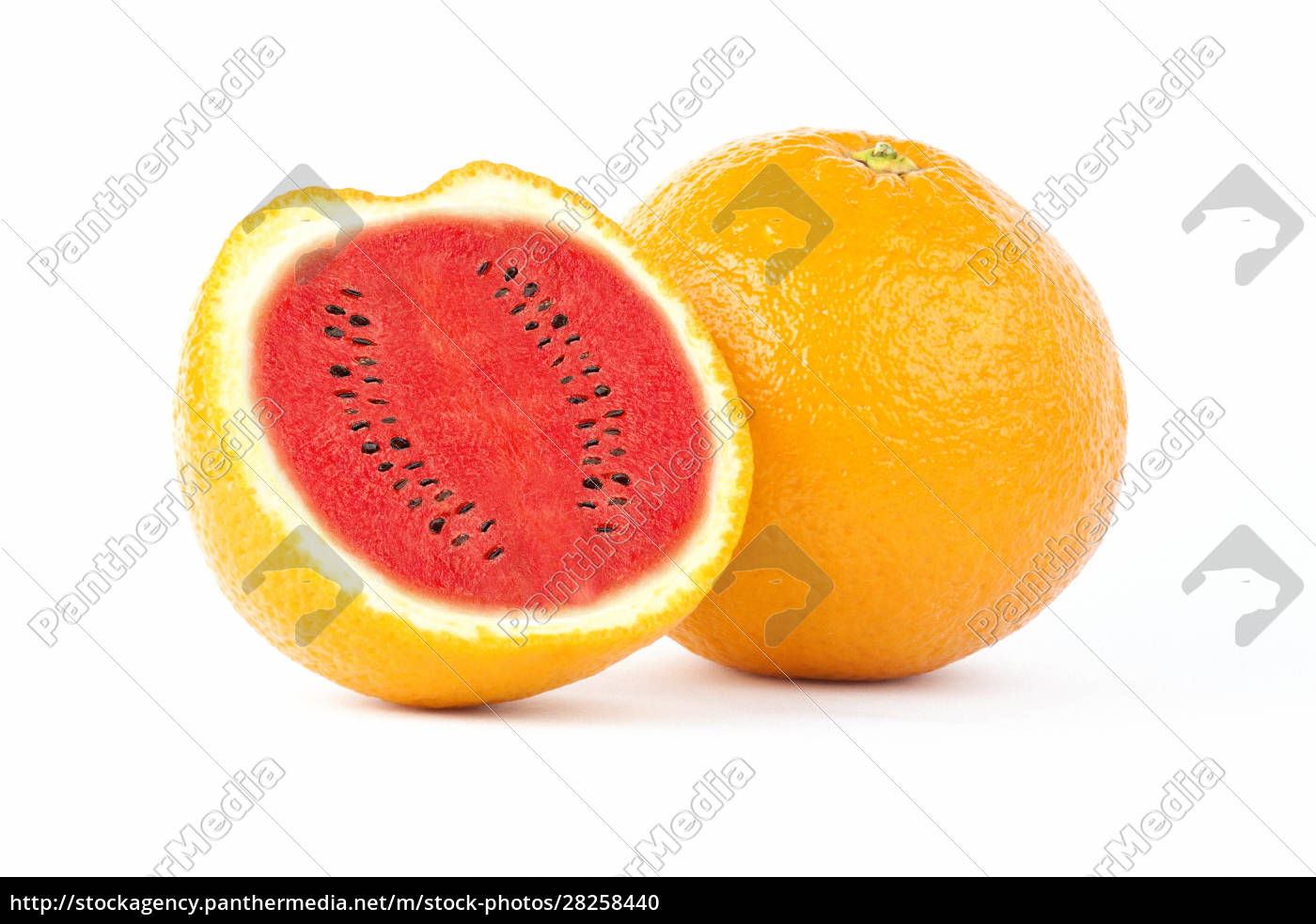 sliced, orange, fruit, with, watermelon, photo - 28258440